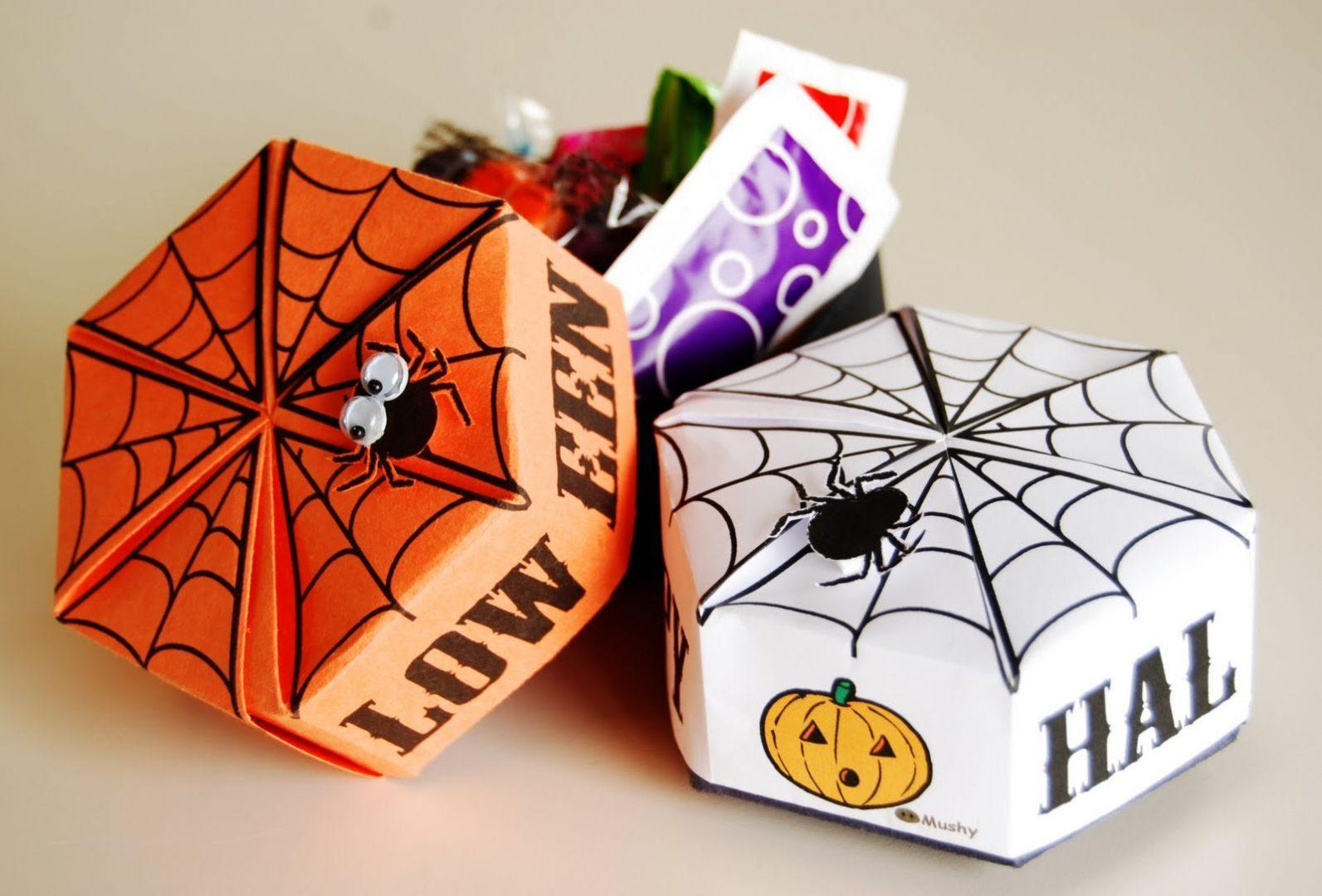 Cajas de papel de halloween im genes y fotos - Cajas forradas de papel ...