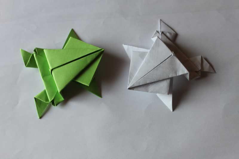 Papiroflexia ranas im genes y fotos - Origami facile grenouille ...